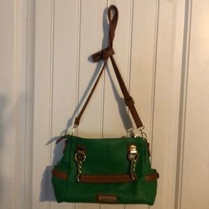 Steve Madden Shoulder Bag Kelley Green/Brown Trim